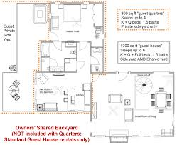 Guest house layout of rooms and furniture