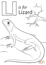 Coloring Pages Of A Lizard L