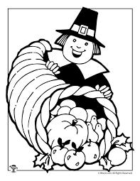 thanksgiving pilgrim coloring page