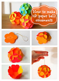 How To Make Paper Balls For Decoration Adorable DIY Christmas Decoration Paper Ball Ornaments Tutorial Step By