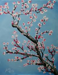 cherry blossom painting and vino class presented by painting and vino community sacramento365
