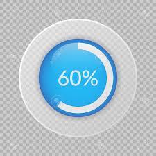 60 Pie Chart 60 Percent Pie Chart On Transparent Background Percentage Vector