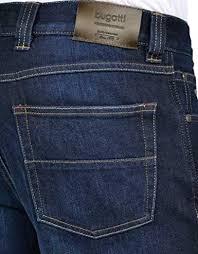Clean denim with slight creased detail. Bugatti Jeans Nevada Dark Blue Blue 34 W 32 L Amazon Co Uk Clothing