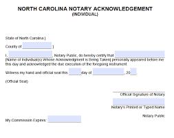 free north carolina individual notary