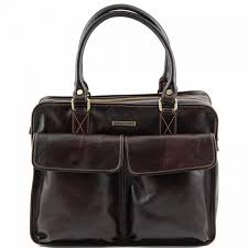 women s leather briefcase with front pockets