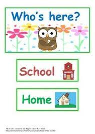Who S Here Today Chart Printable 9 Best Preschool Attendance Chart Images Preschool