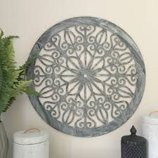 decorative round metal wall panel garden art screen wall