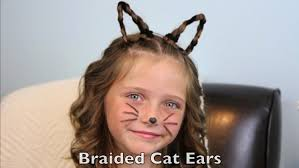 Cat Hair Style braided cat ears halloween hairstyles cute girls hairstyles 7903 by wearticles.com