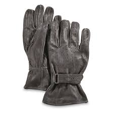 u s government surplus leather riding gloves new black