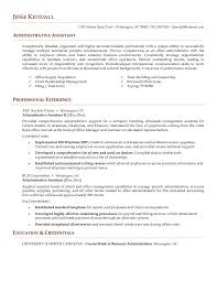 free sample administrative assistant resume examples 2016 executive assistant resumes samples