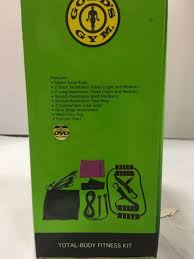 Gold Gym Workout Chart Golds Gym Total Body Fitness Kit 9 Piece W Exercise Chart Workout Dvd Mesh Bag