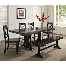 black wood dining room set unique we furniture solid wood black dining bench kitchen