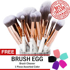 philippines marble professional make up brush set 10 pieces gray free brush egg