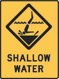 Water Safety Signs Aussie Shallow Water Pool Safety Signs