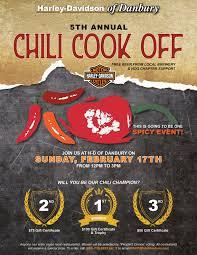 5th annual chili cook off sunday feb 17
