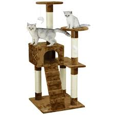 Go Pet Club Brown 52 inch High Cat Tree Furniture 845f465d 4533 4d12 8b8a b51d1ef34b14 600