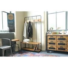 Hallway Coat Rack Bench Delectable Storage Bench With Coat Rack Industrial Living Hallway Coat Rack And