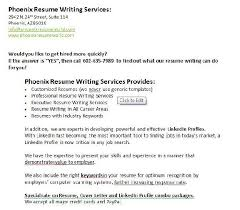 Phoenix Resume Writing Services
