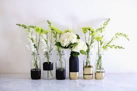 DIY color-blocked vases