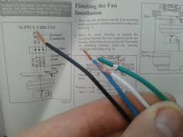 electrical how do i wire this ceiling fan home improvement enter image description here the installation manual states to connect both blue and black ceiling fan wires to