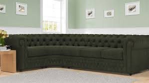 Montrose Studded U0026 Buttoned Grey Fabric 3 Seater Chesterfield Sofa Fabric Chesterfield Sofas Uk