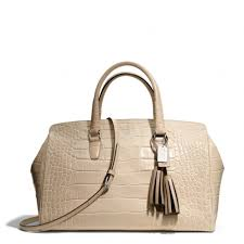 Lyst - Coach Legacy Large Lowell Satchel in Embossed Leather in Natural