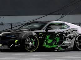 Car With Monster Energy Logo