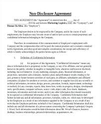 Standard Nda Agreement Template Confidentiality And Nondisclosure Agreement Template