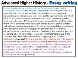 conclusion advanced higher history essay