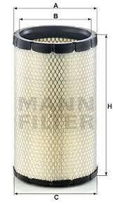 Secondary <b>Air</b> Filter - <b>CF 19</b> 021 MANN+HUMMEL - RE210103 | K ...