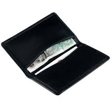 international business card case holder in genuine leather