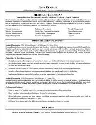 medical technologist resume sample related