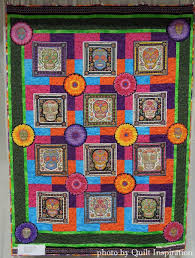Quilt Inspiration: Celebrating Dia de los Muertos 2015 & Sharon is the designer of the Handy Caddy bags for carry quilting and  sewing notions, so she appeared at PIQF as a vendor. However, she has an  interesting ... Adamdwight.com