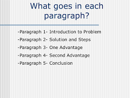 structuring a problem solution paper the following presentation  what goes in each paragraph