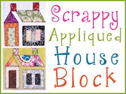 Scrappy Appliqued House Block ,free patterns   Quilting ... & Scrappy Appliqued House Block ,free patterns Adamdwight.com