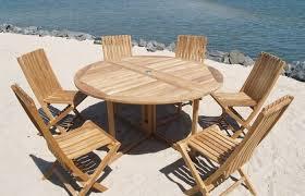 modern patio and furniture medium size round wood patio table teak outdoor dining sathoud decors refinish
