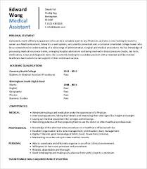 Sample Resume For Medical Assistant