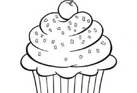Small Picture Coloring Pages Cupcakes Printable Kids Colouring Gekimoe 61342