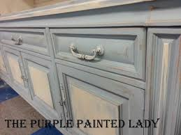 louis blue old white hutch base painted