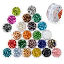 ZHUBI Mixed Color Glass Seed Beads Approx ... - Amazon.com