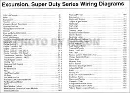 f super duty wiring diagram 2003 ford excursion f super duty 250 350 450 550 wiring diagram manual this manual set
