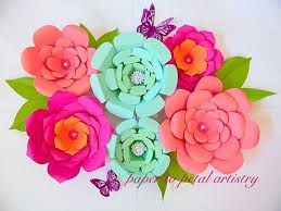 Paper Flower Kit Giant Paper Flowers Diy Templates Patterns Tutorial