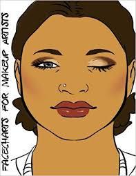 facecharts for makeup artists sophia blake anderson 9781544954769 amazon books