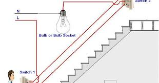 how to control a lamp light bulb from two places using two way how to wire two switches to one light at Wiring Two Way Switch Light Diagram