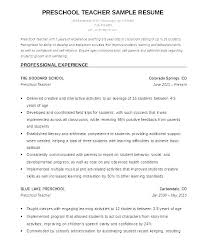 Preschool Teacher Assistant Resume Magnificent Resume For Assistant Teacher Best Resume For Teachers Resume For