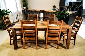 dining tables rustic wood dining table set furniture with leaves reclaimed and chairs metal legs