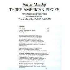 Minsky, Aaron - Three American Pieces - Viola Solo - transcribed by David  Dalton - Oxford University Press   SHAR Music - sharmusic.com