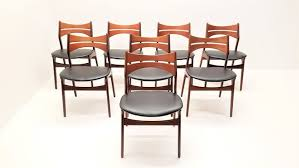 mid century model 310 teak dining chairs by erik buch set of 8 1