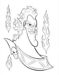 Hades Coloring Page Disney Villains Coloring Pages Online Wallpaper
