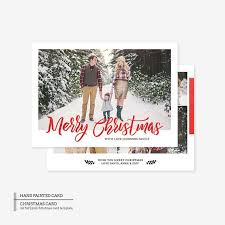 Printable Christmas Card Templates Custom Two Sided Christmas Card Photoshop Template The 48 Fee Covers The